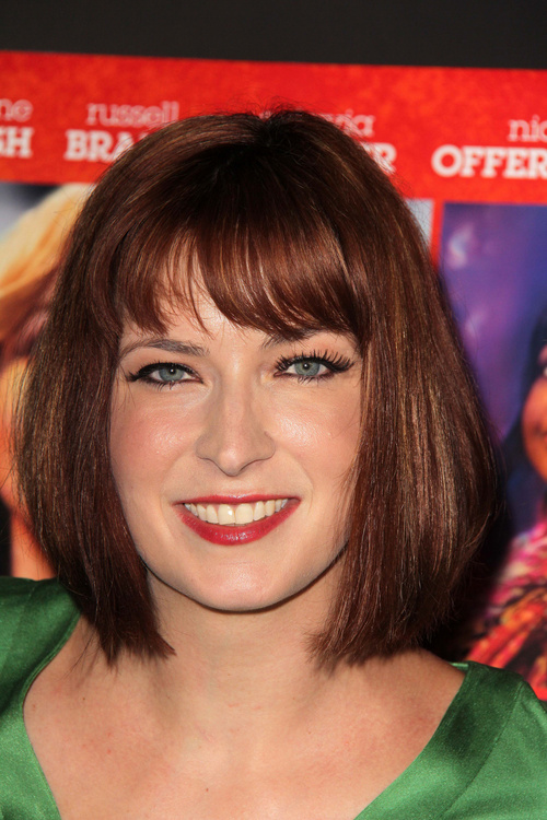 Slimming Bob With Eye Brow Skimming Bangs The Right