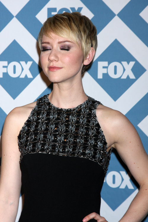 pixie haircut with sideburns for a round face