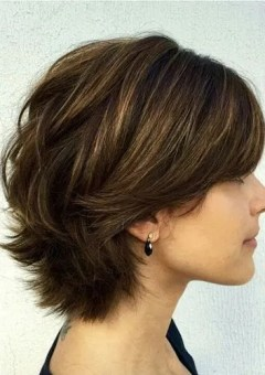short layered haircut for thick hair