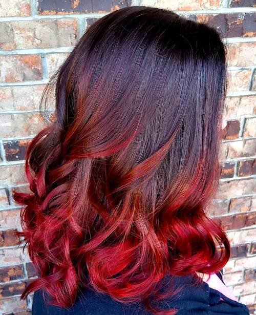 18 Striking Red Ombre Hair Ideas - PoPular Haircuts