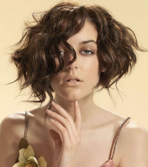 wavy voluminous bob hairstyle