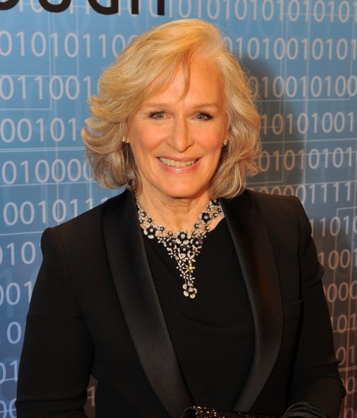 Glenn Close short curly hairstyle