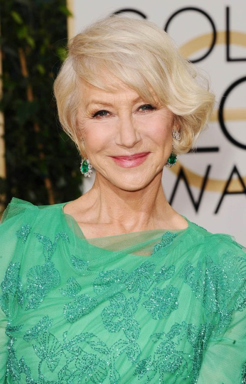 Helen Mirren short hairstyle