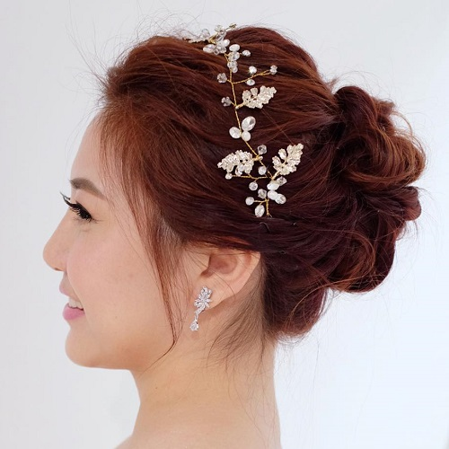 Bridal Updo For Medium Hair