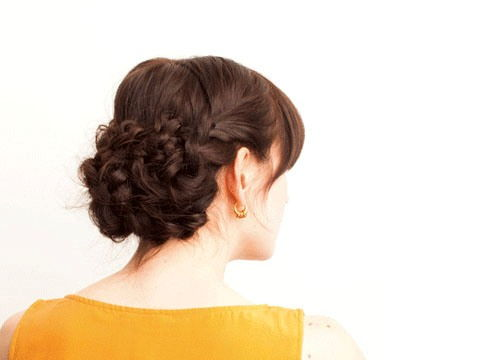 Prim And Proper Updo For Medium Length Hair