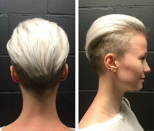 women's two-tone undercut hairstyle