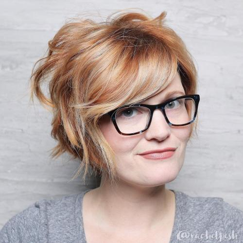 Tousled Strawberry Blonde Pixie Bob