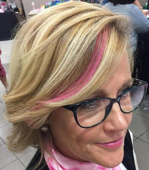 Over Short Blonde Hairstyle