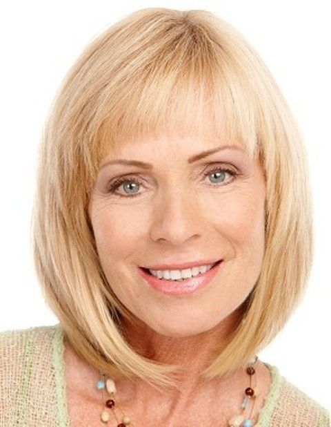 blonde bob for women over 40