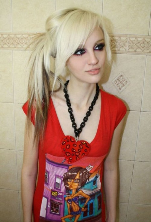 pony emo hairstyle for girls