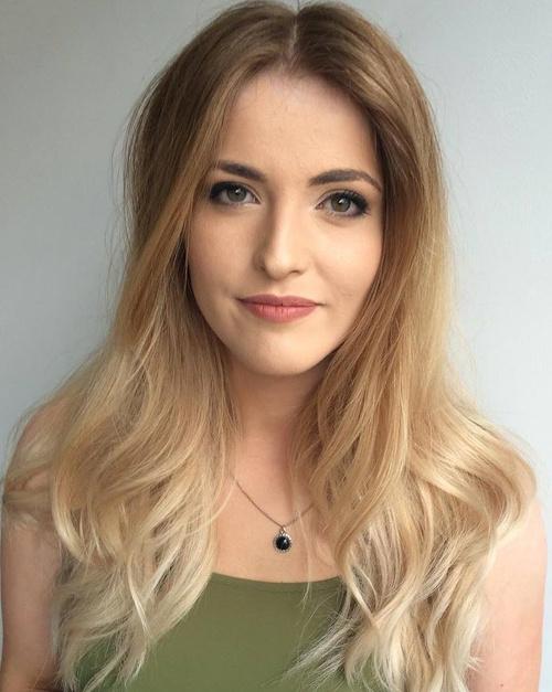 light brown sombre hair