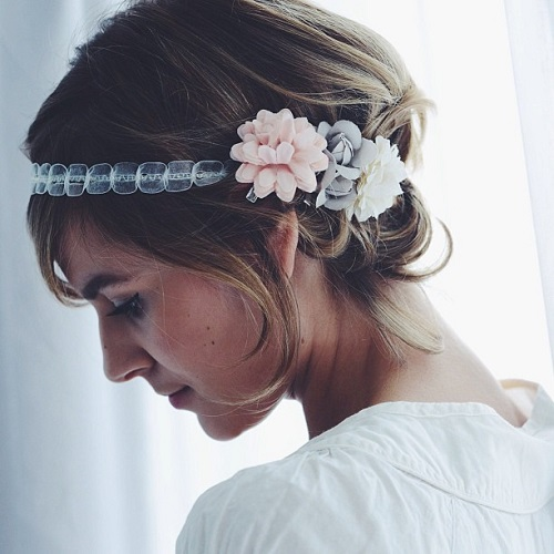 easy updo for shorter hair for prom