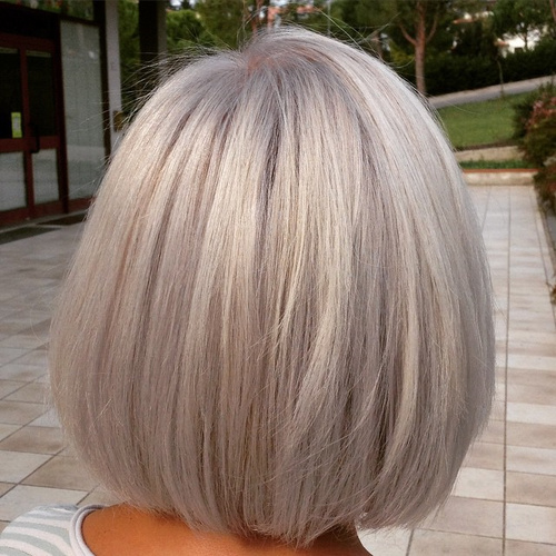 60 gorgeous hairstyles for gray hair - Bob silberblond ...