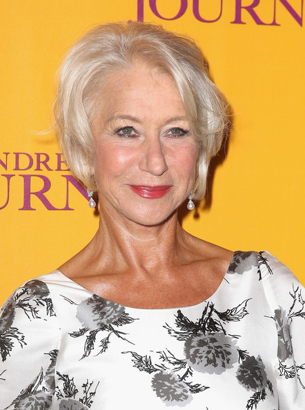 Helen Mirren grey hairstyle