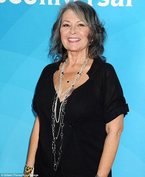 Roseanne Barr grey hairstyle