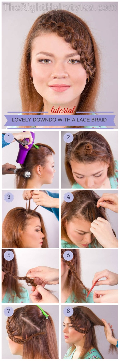 hairstyle with braided bangs tutorial