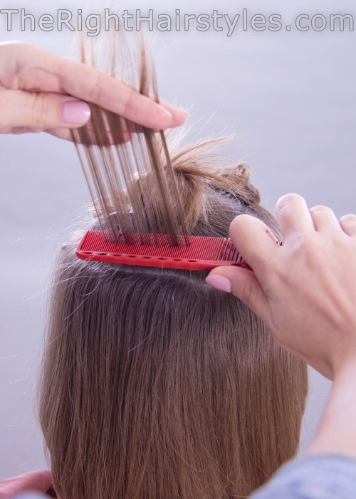 how to backcomb hair