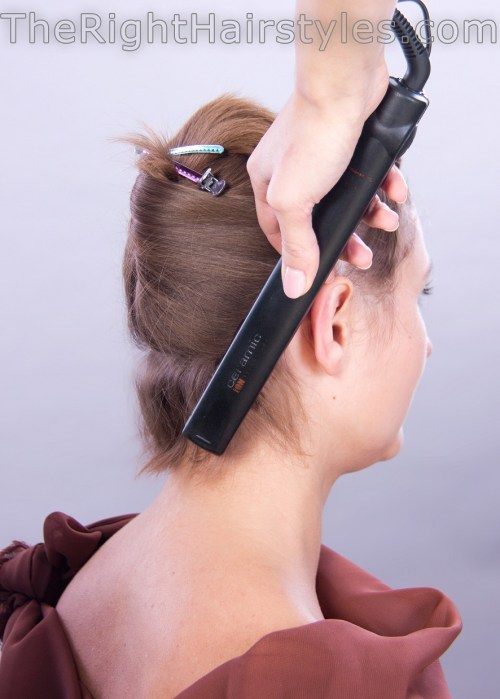 how to do curls with a flat iron