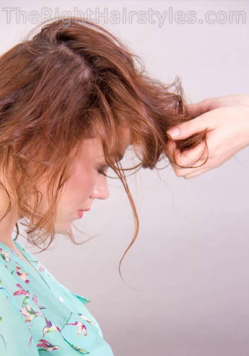 medium hairstyle for thin hair tutorial