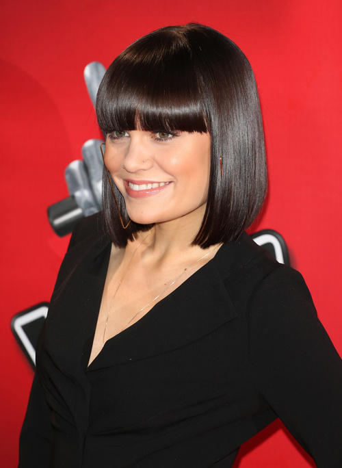 Jessie J graphic bob with bangs