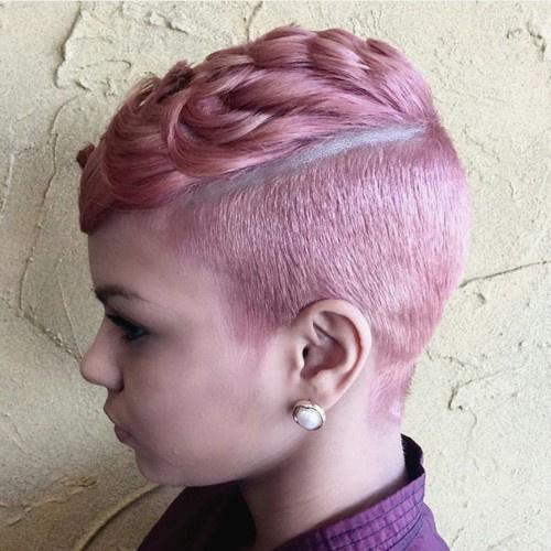 pastel pink fauxhawk for girls