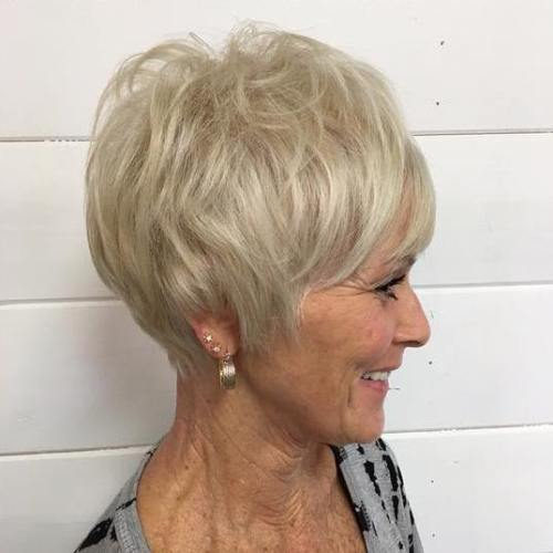 Blonde Pixie For Elderly Women
