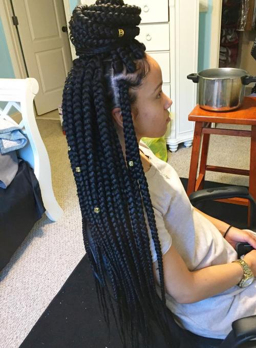 Little Girl's Long Box Braids