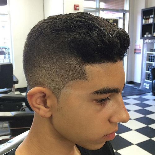 Quiff Haircut For Teenage Guys