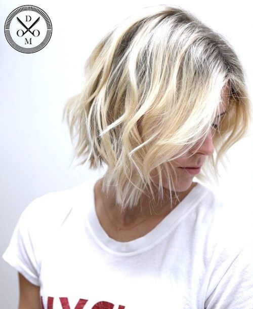 Blonde Messy Bob Hairstyle