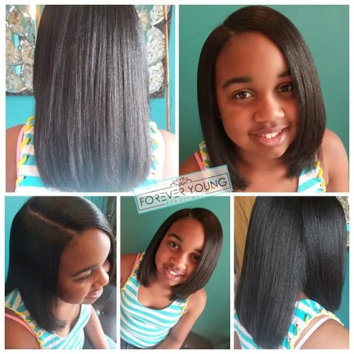 long bob for little black girls
