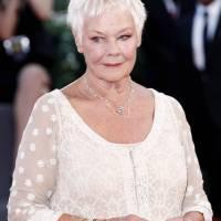 Judi Dench short haircut for older women