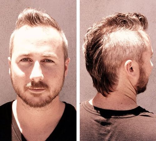 men's fauxhawk hairstyle