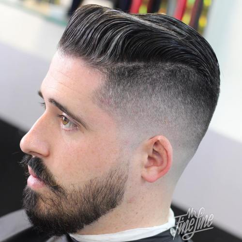 Pompadour With Fade Undercut