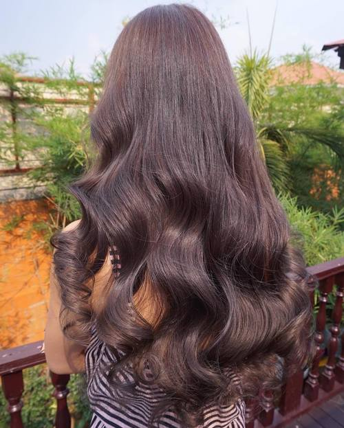 Long Chocolate Brown Hair