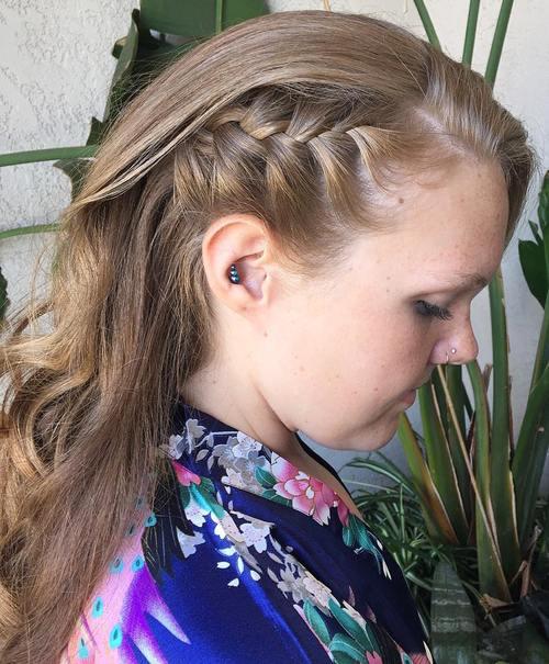 side braid downdo
