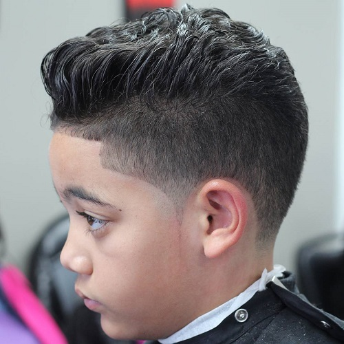 Boys' Curly Undercut