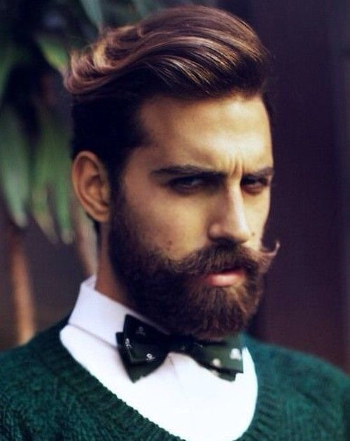 men's side-swept hairstyle