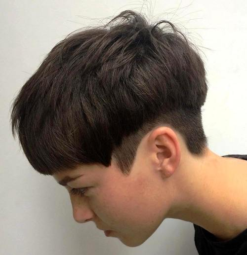 pixie with temple and nape undercut