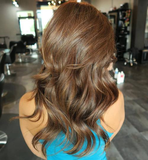 Medium Brown Layered Hair