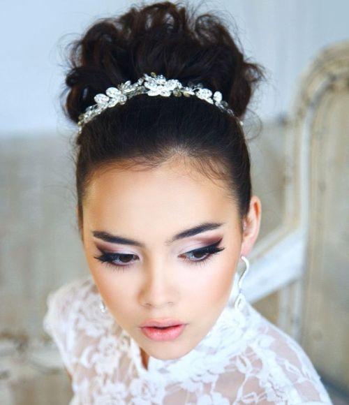 bridal bun updo