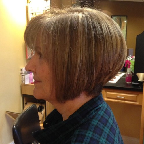 Older Women's Bob With Bangs