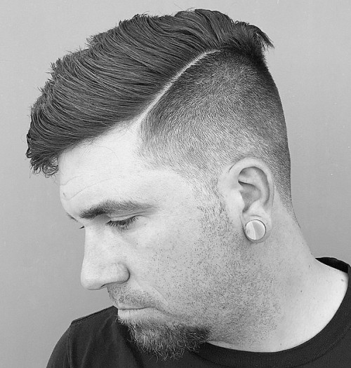 cool quiff haircut with varied length