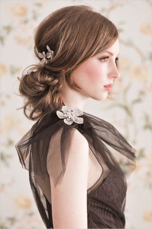 messy updo for bridesmaids