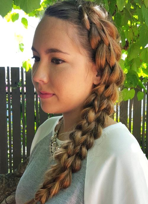 two side braids hairstyle for teen girls