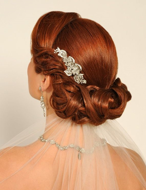 wedding vintage updo hairstyle