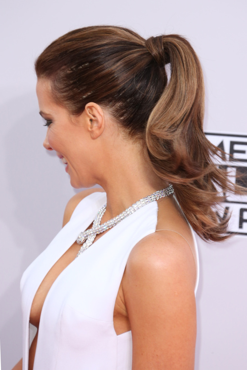 mother of the groom ponytail hairstyle
