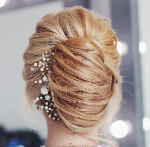 french twist bridal updo