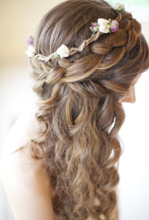 Braided Wedding Hairstyle For Curly Hair