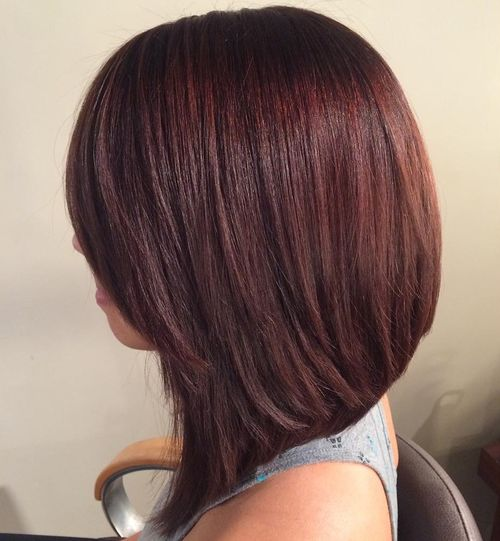angled layered bob for thick hair