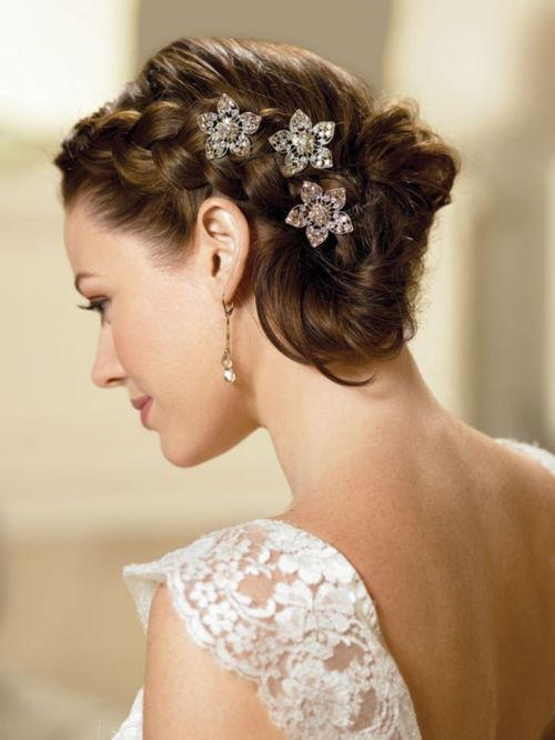 curly wedding updo